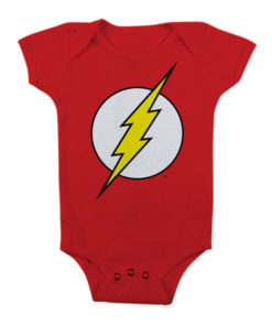 Body Bébé The Flash Logo de couleur Rouge