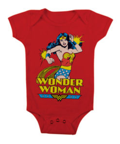 Body Bébé Wonder Woman de couleur Rouge