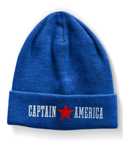 Bonnet Captain America Beanie de couleur