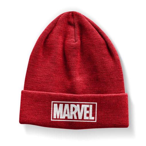 Bonnet Marvel Red Logo Beanie de couleur