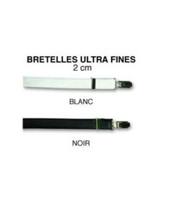 Bretelles Ultra Fines Noires ou Blanches