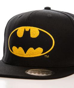 Casquette Batman à visière plate (noir et jaune)