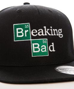 Casquette Breaking Bad noire à visière plate