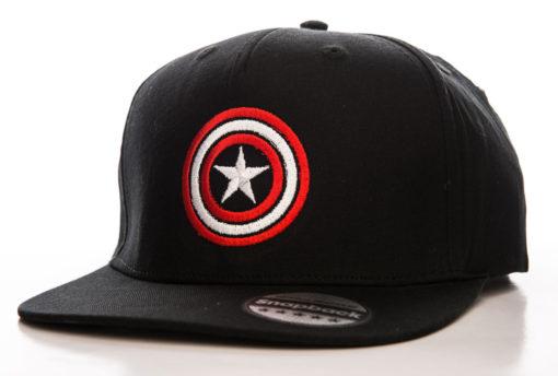 Casquette Captain America Shield (visière plate) de couleur