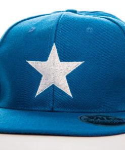 Casquette Captain America bleue avec étoile blanche