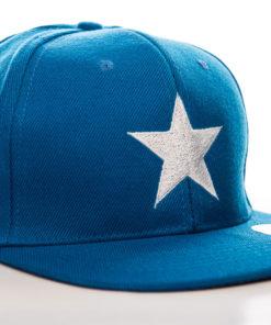 Casquette Captain America Star (visière plate) de couleur