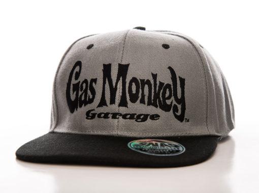 Casquette Gas Monkey Garage Logo (visière plate) de couleur Noir/Gris