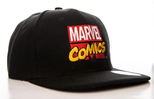 Casquette avec le logo Marvel Comics noir / blanc / jaune et rouge