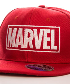 Casquette Marvel Red Logo (visière plate) de couleur