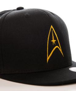 Casquette Star Trek noire et jaune à visière plate