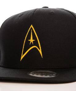 Casquette avec le logo Star Trek noir et jaune