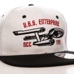 Casquette Star Trek U.S.S. Enterprise (visière plate) de couleur