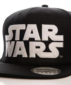 Casquette du film La guerre des étoiles à visière plate (logo Star Wars)