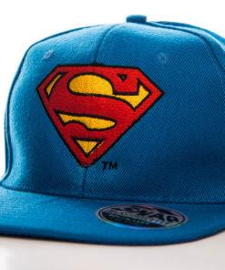 Casquette Superman Bleue à visière plate