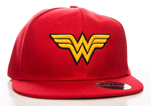 Casquette Wonder Woman rouge et or