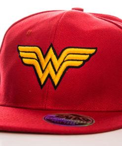 Casquette Wonder Woman Wings (visière plate) de couleur