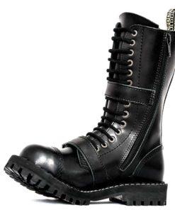 Chaussures montantes coquées noires (face interne de la boot)