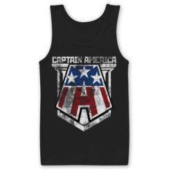 Débardeur Captain America de couleur Noir