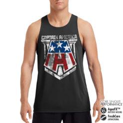 Débardeur de sport Captain America A Performance Singlet pour homme de couleur Noir