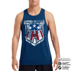 Débardeur de sport Captain America A Performance Singlet pour homme de couleur