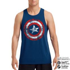 Débardeur de sport Captain America Shield Performance Singlet pour homme de couleur