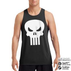 Débardeur de sport Marvel Comics - The Punisher Skull Performance Singlet pour homme de couleur Noir