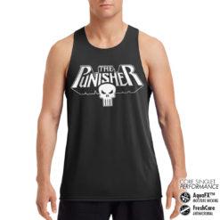 Débardeur de sport Marvels The Punisher Logo Performance Singlet pour homme de couleur Noir