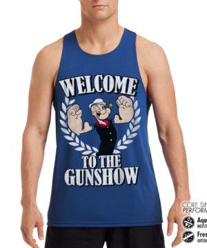 Débardeur de sport Popeye - Welcome To The Gunshow Performance Singlet pour homme de couleur Bleu