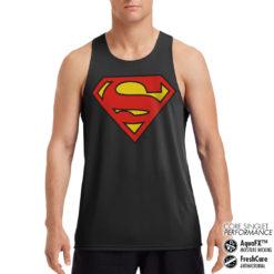 Débardeur de sport Superman Shield Performance Singlet pour homme de couleur Noir