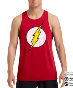 Débardeur de sport The Flash Emblem Performance Singlet pour homme de couleur Rouge