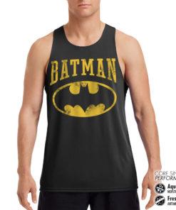 Débardeur de sport Vintage Batman Performance Singlet pour homme de couleur Noir