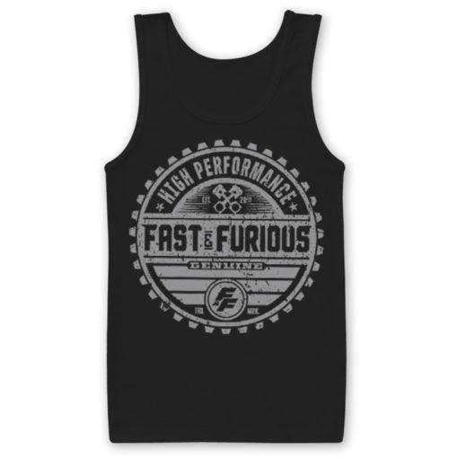 Débardeur Fast & The Furious Genuine Brand de couleur Noir