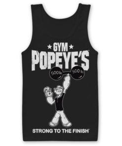 Débardeur Popeye's Gym de couleur Noir