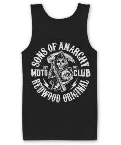 Débardeur SOA Moto Club de couleur Noir