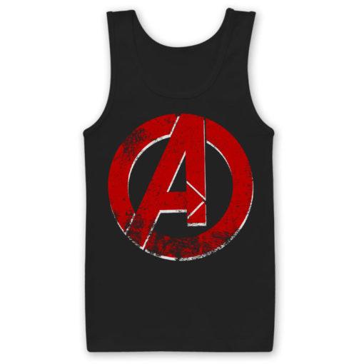 Débardeur The Avengers A Logo de couleur Noir
