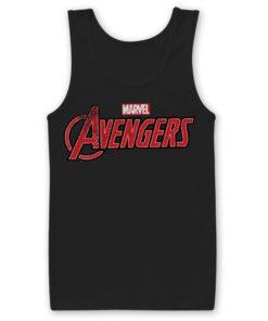 Débardeur The Avengers Logo Wide de couleur Noir