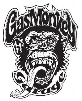 Logo Gaz Monkey Garage (tête de singe qui tire la langue)