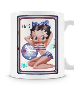 Mug Betty Boop HOT pour thé ou café de couleur