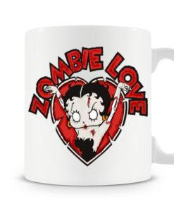 Mug Betty Boop - Zombie Love Coffe pour thé ou café de couleur