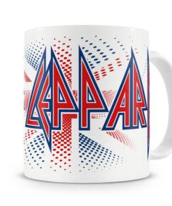 Mug Def Leppard - UK Flag pour thé ou café de couleur