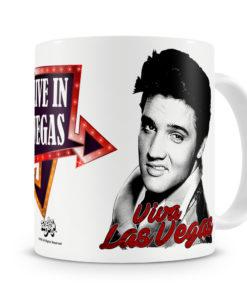 Mug Elvis Presley - Live In Vegas pour thé ou café de couleur