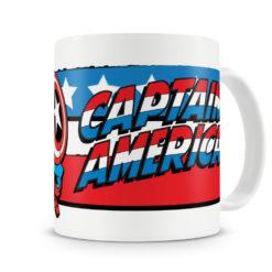 Mug Marvel Captain America Flag pour thé ou café de couleur