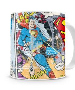 Mug Superman Comic Strip pour thé ou café de couleur