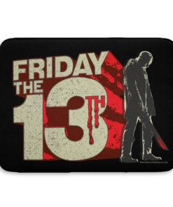 Pochette ordinateur Friday The 13th Block Logo de couleur