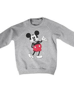 Pull Mickey Mouse Classic s enfant de couleur Gris