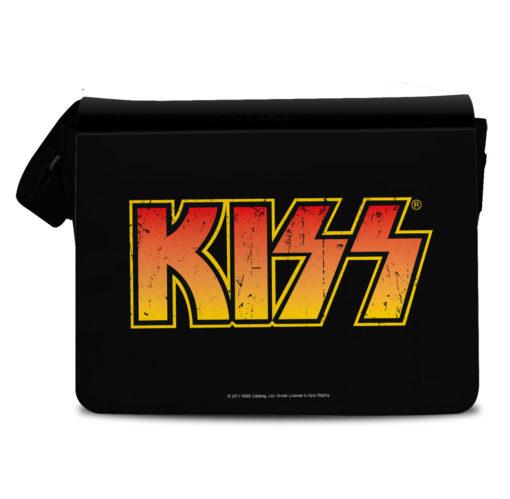 Sac Kiss de couleur noire avec le logo du groupe de rock