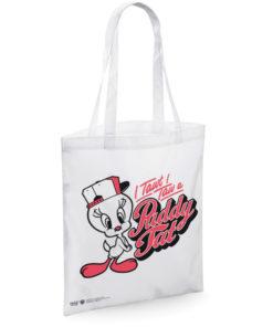 Sac en toile Tweety - I Tawt I Taw a Puddy Tat Tote Bag de couleur