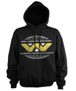 Sweat à capuche Aliens - Wayland-Yutani Corp. de couleur Noir