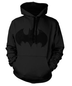 Sweat à capuche Batman Inked Logo de couleur Noir