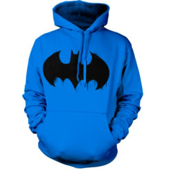 Sweat à capuche Batman Inked Logo de couleur Bleu